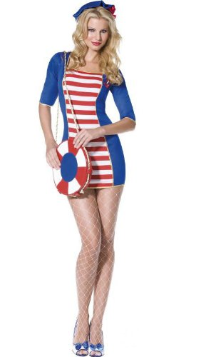 Ladies Sailor Costume Fancy Dress Outfit