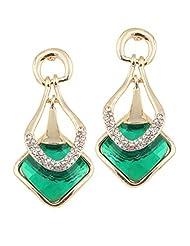 BIG Tree 18K Gold Plated Green Diamond Trendy Earring For Women.
