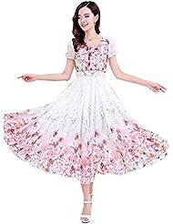 Filmlion New White & Pink Georgette Designer Western Wear Semi Stitched Kurti (Digital Printing)