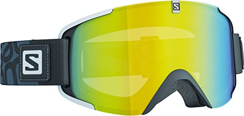 Salomon L37779600_Black/Lolight Lightyellow_One Size - Maschera da sci Uomo, taglia unica, colore: Black/Lolight Lightyellow