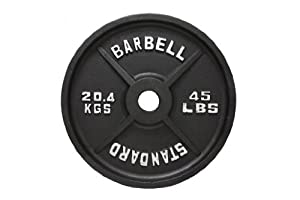 Buy USA Sports Black Olympic Weight Plate by USA Sports Inc.