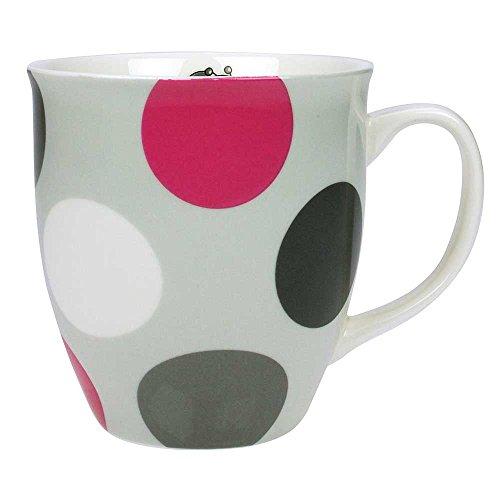 Steinbeck Antonella Schnecke Punkte Tasse Becher Porzellan grau pink weiß