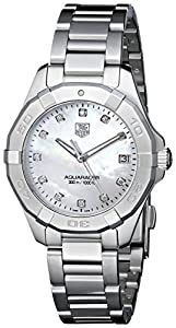 TAG Heuer Women's WAY1313.BA0915 Aquaracer Diamond-Accented Stainless Steel Watch