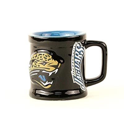 Jacksonville Jaguars NFL Licensed Sculpted Ceramic Mini Mug Style Shot Glass (2 Oz.)