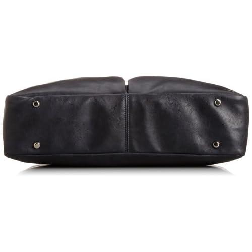 [ステファノマーノ] stefanomano 公式 ダブルポケット ブリーフトートバッグ 1893 1893 ネイビー/ライトブラウン (ネイビー/ライトブラウン)