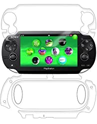 Skinomi Dry Tech Sony Playstation Psp Vita Screen Protector + Full Body Skin With Lifetime Replacement / Front & Back Premium Hd Clear Film / Ultra Dry Install Invisible And Anti Bubble Shield