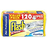 Brand New. Flash All Purpose Cleaning Wipes Lemon Fragrance Ref VPGFAWL [Pack 120]
