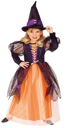 Little Princess Child's Pretty Witch Costume, Medium