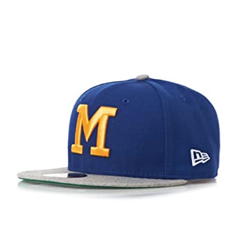 New Era Mens 59Fifty Heathered Out Cooperstown Collection Milwaukee Brewers Cap by New Era