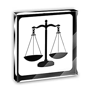 Amazon Com Scales Of Justice Acrylic Office Mini Desk