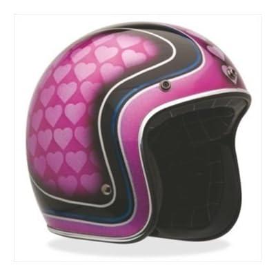 Bell Heart Breaker Custom 500 Open-Face Motorcycle Helmet Purple/Black