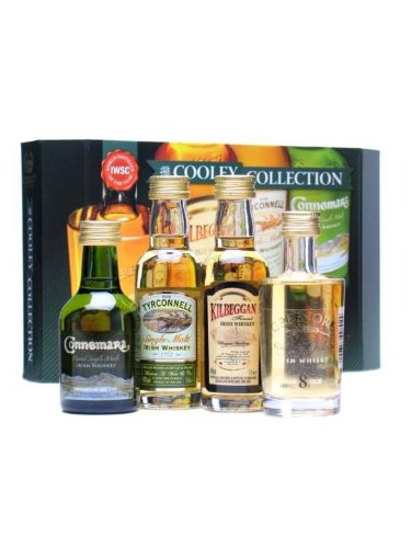 The Cooley Collection 4 x 5cl Irish Whiskey Miniature Gift Pack