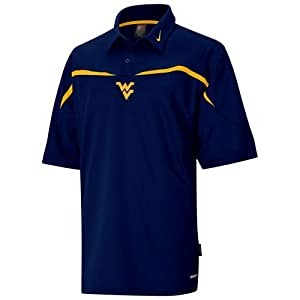 Nike West Virginia Mountaineers Navy Roll Out Polo by Nike