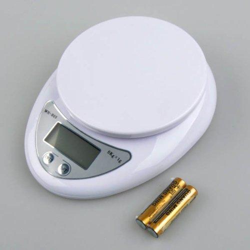 NEEWER® High Quality Kitchen Good Helper Digital Kitchen Food Diet Postal Scale 5kg White