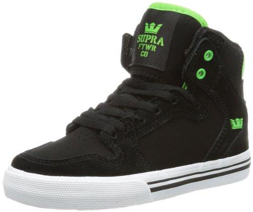 Supra KIDS VAIDER S11018K, Sneaker ragazzo, Nero (Schwarz (BLACK / SOFT LIME - WHITE BKL)), 32