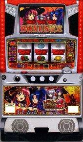 【KPE】マジカルハロウィン3◆コイン不要機&ゲーム数カウンタ付◆家庭用中古パチスロ