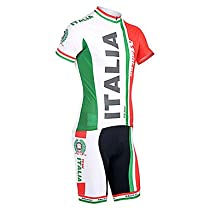 Italy model 100% polyester short set of rapid drying of cycling jerseys,M