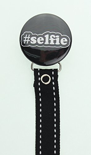 Selfie Pacifier Clip with Matching Ribbon (RSLF)