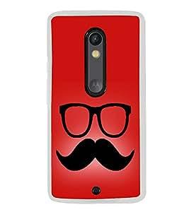 Moustache Uncle 2D Hard Polycarbonate Designer Back Case Cover for Motorola Moto X Play