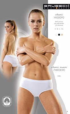 5x Brubeck Damen Classic Slip PerfectFit nahtlos ( Damen Unterwäsche Sport Funktionswäsche Baumwolle Polyamid Premium Qualität) by Brubeck