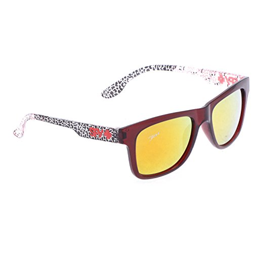 Red Flirt Eyewear Wayfarer Sunglasses (Polished Red) (Flirt Eyewear_0116) (Silver)