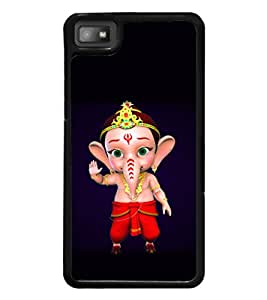 printtech Lord Ganesha Cartoon Back Case Cover for BlackBerry Z10