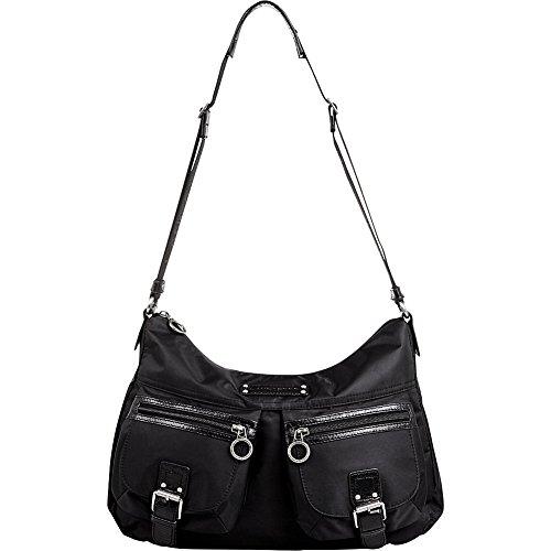 lancaster-paris-nylon-leather-traveler-black