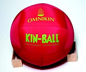 Buy Omnikin Nylon Cover Inflatable Practice Kin-Ball Sport Ball, 33 in, Red by adaptive sports equipment