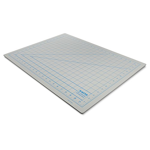 X-ACTO Self-Healing Cutting Mat with Non-Stick Bottom, Gray, One-Inch Grid, 18 x 24 Inches (X7762)