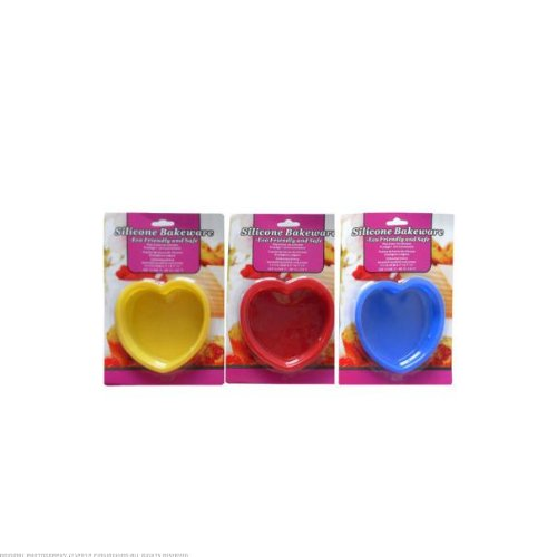 12 Silicone bakeware; heart shaped