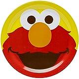 "Zak! Designs Plate featuring Elmo from Sesame Street, Break-resistant and BPA-free Melamine, 8"""
