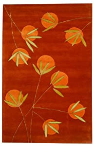"3'6"" x 5'6"" Rectangular Safavieh Area Rug SOH304A-4 Rust Color Hand Tufted India ""Soho Collection"""