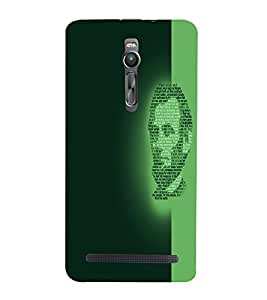 PrintVisa Modern Art Lincoln Face 3D Hard Polycarbonate Designer Back Case Cover for Asus Zenfone 2