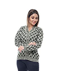 Perroni Women's Embroidered Cardigan (Camel/Mehndi, L)