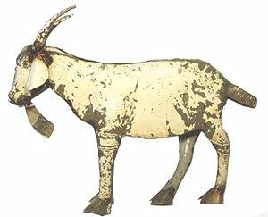 Small Billie Goat : Recycled Metal Animal Garden Art Sculpture