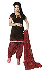 Ethnic For You Cotton Unstitched Salwar Suit Dress Materials(Brown)