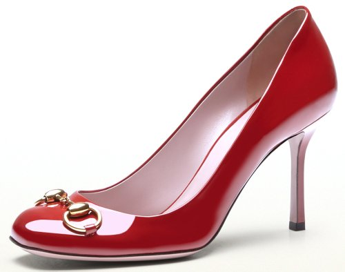 Gucci Jolene Tibet Red Patent Leather Pump