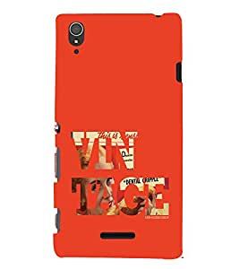 EPICCASE Vintage Mobile Back Case Cover For Sony Xperia T3 (Designer Case)