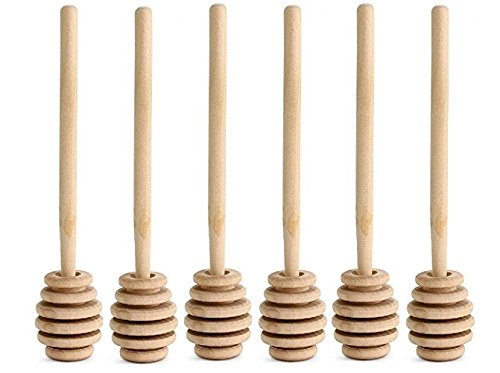 "Cheapest Prices! Nakpunar Wooden Honey Dippers (6, 6"")"