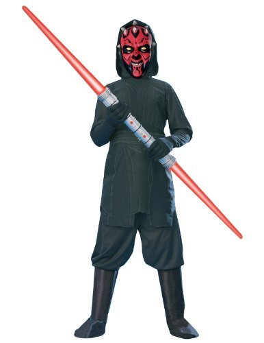 [Rubies Star Wars Darth Maul Costume, Medium] (Child Darth Maul Costumes)
