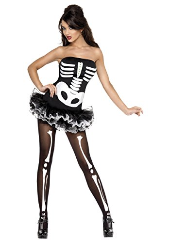 Womens Plus Size Sexy Skeleton Costume 1X