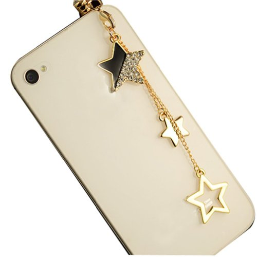 CJB Dust Plug / Earphone Jack Accessory Stars Tassel for iPhone 4 4S S4 5 All Device with 3.5mm Jack (Crown Headphone Jack Charm compare prices)
