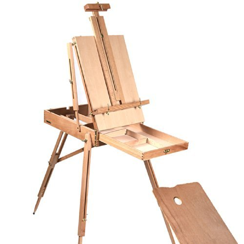 French Easel Wooden Sketch Box Portable Folding Durable Artist Painters Tripod (Paper Easel Fold Display Books compare prices)
