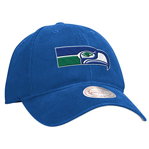 Seattle-Seahawks-Felt-Throwback-Logo-Blue-Slouch-Adjustable-Snapback-Hat-Cap