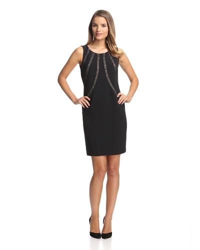 Chetta B Women's Dress with Lace Inserts  [Black]