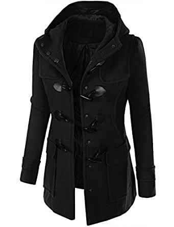 Amazon.com: RubyK Womens Double Breasted Toggle Pea Coat