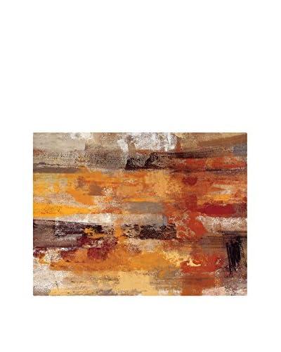 FOOL COLORS by MANIFATTURE COTONIERE Cubresofá November Naranja/Multicolor 100 x 85 cm