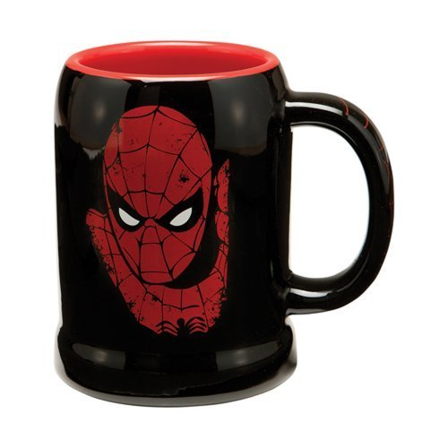 Vandor 26079 Marvel Spider-man 20 oz Ceramic Stein, Black, Red, and White by Vandor