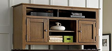 58 in. Entertainment Cabinet in Medium Pine Finish