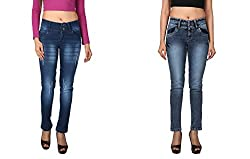 WineGlass Combo of 2 Ankle Fit Womens Stretch Denim Jeans 734CH735CH